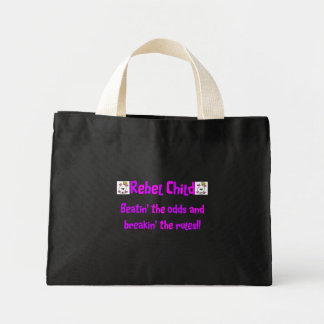 Rebel Child in Pinks & Purples Mini Tote Bag