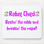 Rebel Child in Pinks & Purples Mouse Pads
