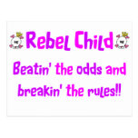 Rebel Child in Pinks & Purples Postcard