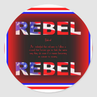 Rebel Design Classic Round Sticker