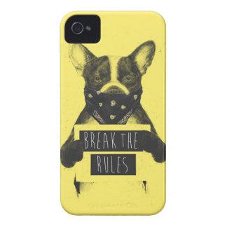Rebel dog (yellow) iPhone 4 Case-Mate case