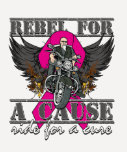 Rebel For a Cause - Breast Cancer T Shirts