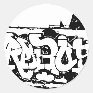 rebel graf classic round sticker
