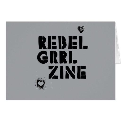 Rebel Grrl Zine Card