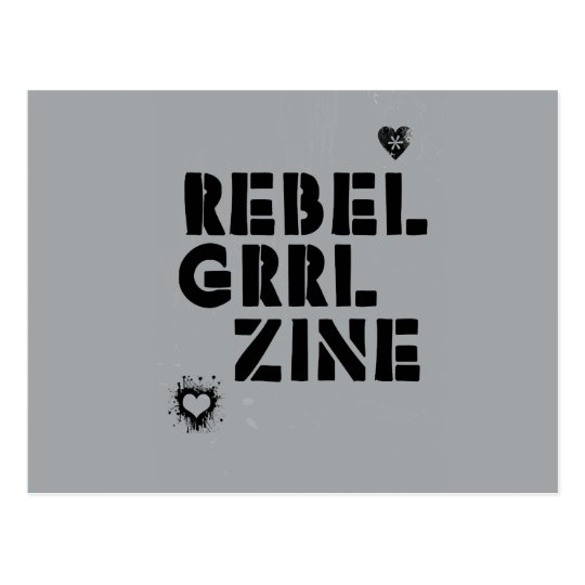 Rebel Grrl Zine Postcard