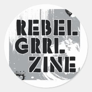 Rebel Grrl Zine Classic Round Sticker