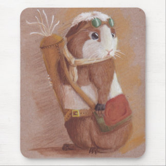 Rebel Guinea Pig Mouse Pad