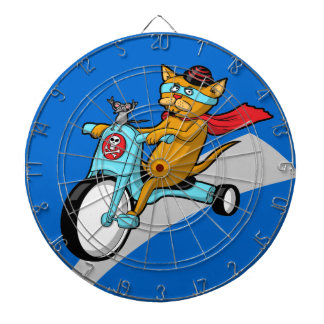 Rebel Kitty Cat with Mouse Pal Dart Boards