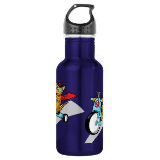 Rebel Kitty Cat with Mouse Pal 18oz Water Bottle