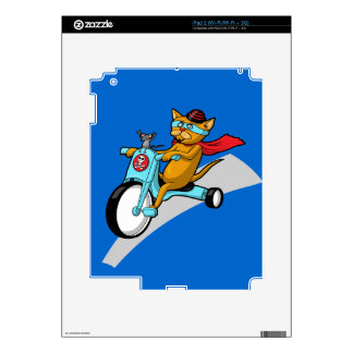 Rebel Kitty Cat with Mouse Pal Skins For iPad 2
