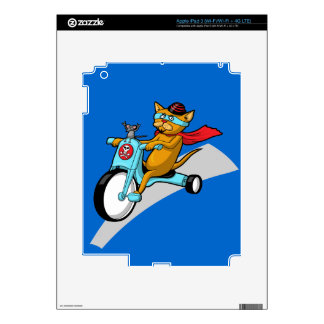 Rebel Kitty Cat with Mouse Pal iPad 3 Skin