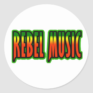 Rebel Music Classic Round Sticker