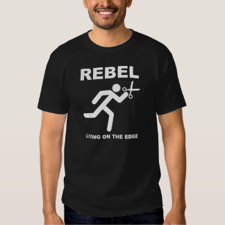 Rebel on the Edge Funny T-shirt blk