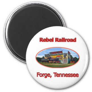 Rebel Railroad Roadside Attraction 2 Inch Round Magnet