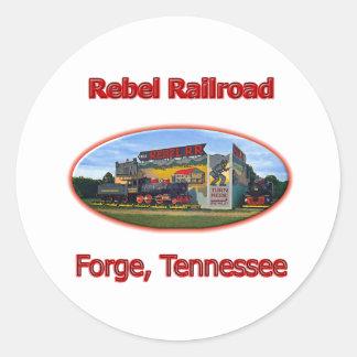 Rebel Railroad Roadside Attraction Round Sticker
