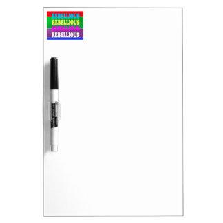 Rebel Rebellion REBELLIOUS Expression LOWPRICE GIF Dry Erase Board