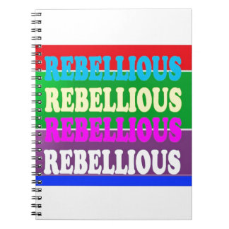 Rebel Rebellion REBELLIOUS Expression LOWPRICE GIF Notebook