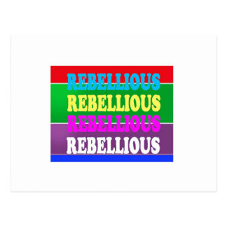 Rebel Rebellion REBELLIOUS Expression LOWPRICE GIF Postcard