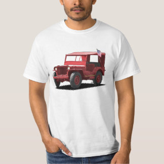 Rebel Red MJ Military Vehicle T-Shirt
