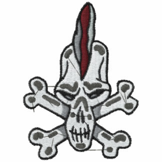 Rebel Skull and Crossbones Embroidered Shirt