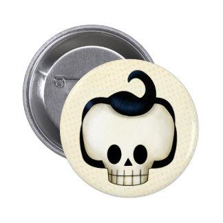 Rebel Skull 2 Inch Round Button