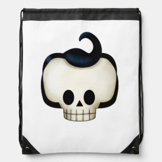 Rebel Skull Drawstring Bag