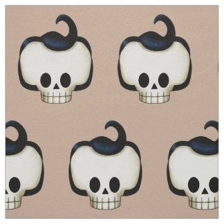 Rebel Skull Fabric