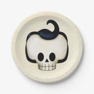 Rebel Skull Paper Plate