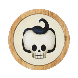 Rebel Skull Round Cheeseboard