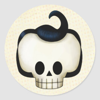 Rebel Skull Classic Round Sticker