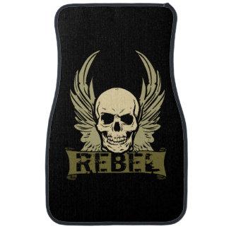 Rebel Skull With Wings Auto Front Floor Mats