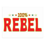 Rebel Star Tag Postcard