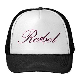 REBEL unique design, purple script and heart! Trucker Hat