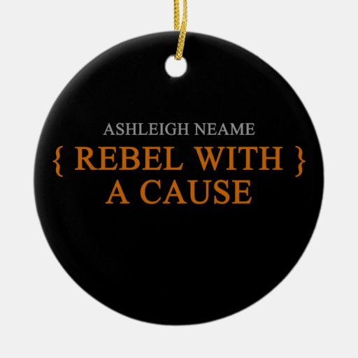 Rebel With A Cause Merchandise Double-Sided Ceramic Round Christmas Ornament