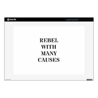 Rebel With Many Causes Laptop Decals