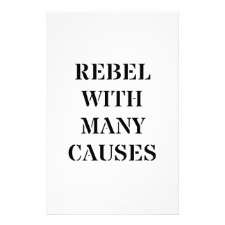 Rebel With Many Causes Stationery
