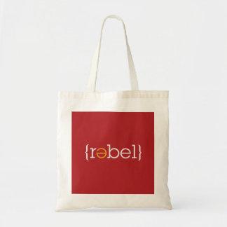 """""""Rebelde"""" con un tote Bolsa Tela Barata"""