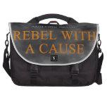 Rebelde con una mercancía de la causa bolsa de ordenador