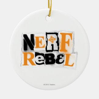 Rebelde de Nerf Adorno Navideño Redondo De Cerámica