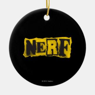 Rebelde de Nerf - amarillo Adorno Navideño Redondo De Cerámica