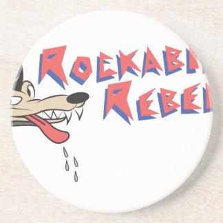 Rebelde del Rockabilly Posavasos Diseño
