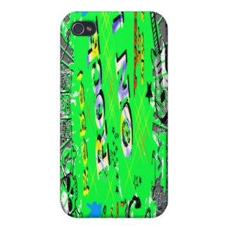 Rebelde del rollo del n de la roca iPhone 4/4S carcasas