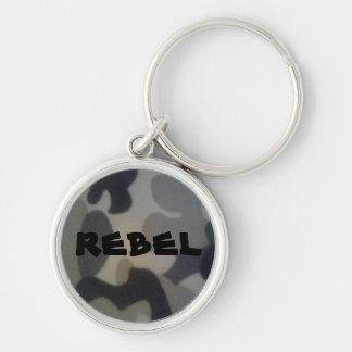 Rebelde Llavero Redondo Plateado
