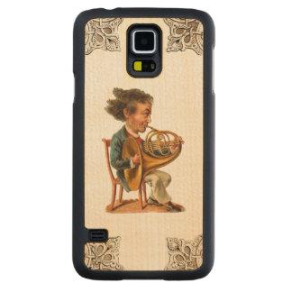 REBELDE RETRO la madera de la galaxia S5 de Funda De Galaxy S5 Slim Arce