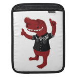 Rebelde rojo del monstruo del Rockabilly Funda Para iPads