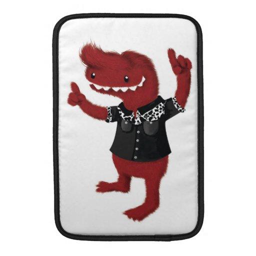 Rebelde rojo del monstruo del Rockabilly Funda Para Macbook Air