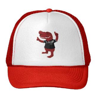 Rebelde rojo del monstruo del Rockabilly Gorras