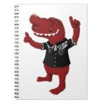 Rebelde rojo del monstruo del Rockabilly Libretas Espirales
