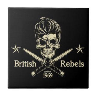 Rebeldes británicos azulejo cuadrado pequeño