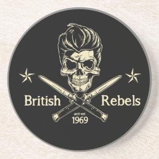 Rebeldes británicos posavasos para bebidas